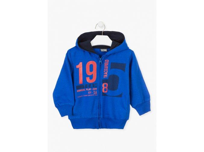 Mikina s kapucí a potiskem (Barva Modrá, Velikost 92)