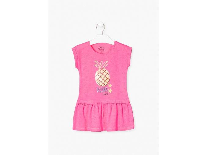 Šaty s flitrovou aplikací (Barva Růžová, Velikost 92)