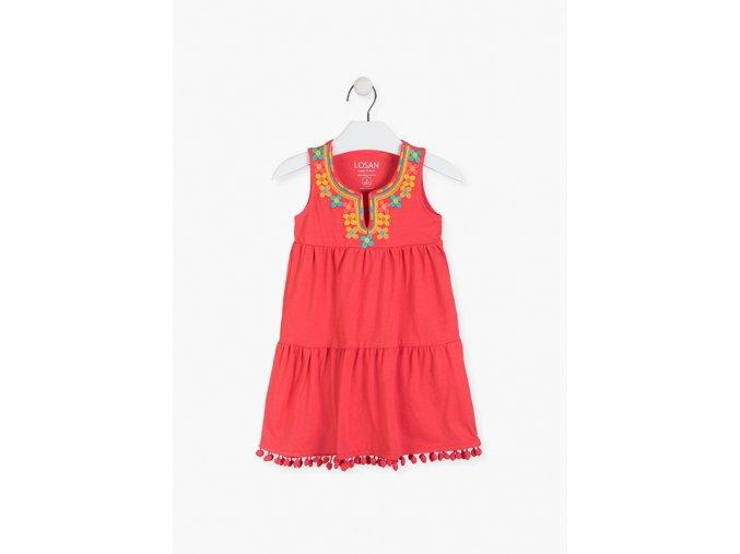 Šaty s výšivkou (Barva Oranžová, Velikost 134/140)