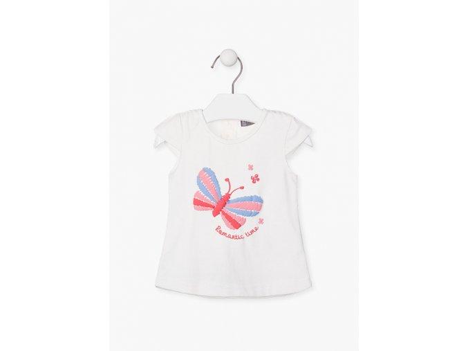 Tričko krátký rukáv s aplikací (Barva Bílá, Velikost 86)