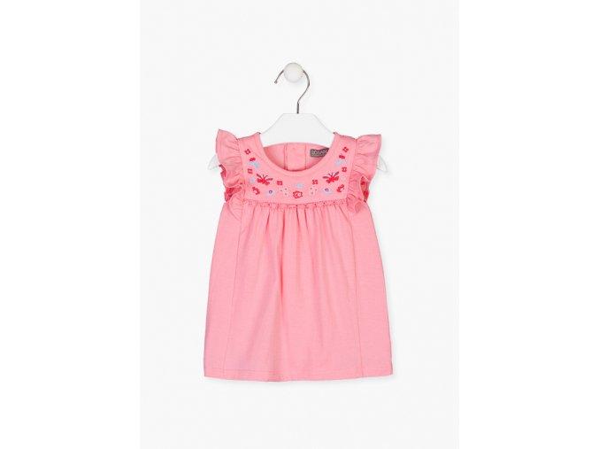 Šaty s výšivkou (Barva Růžová, Velikost 86)