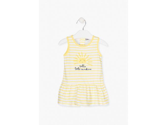 Šaty s potiskem (Barva Žlutá, Velikost 86)