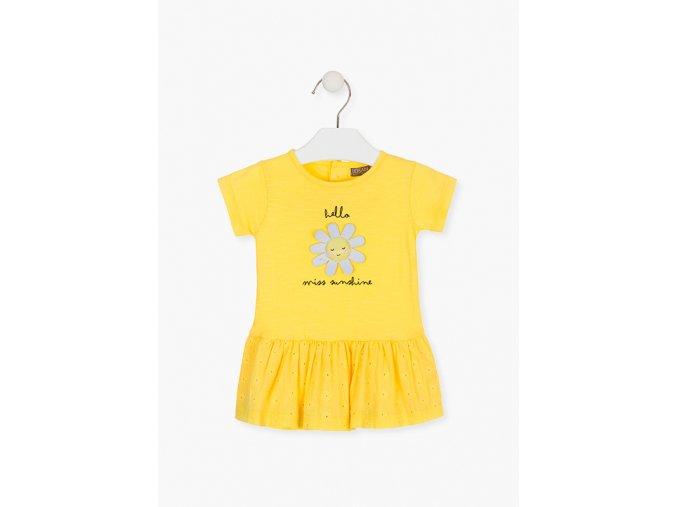 Šaty s aplikací (Barva Žlutá, Velikost 86)