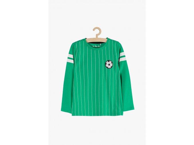 Tričko dlouhý rukáv s aplikací (Barva Zelená, Velikost 104)