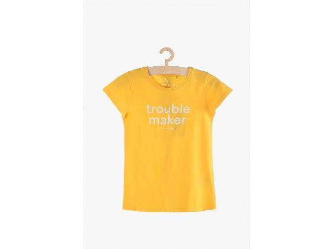 Tričko krátký rukáv s potiskem (Barva Žlutá, Velikost 134)