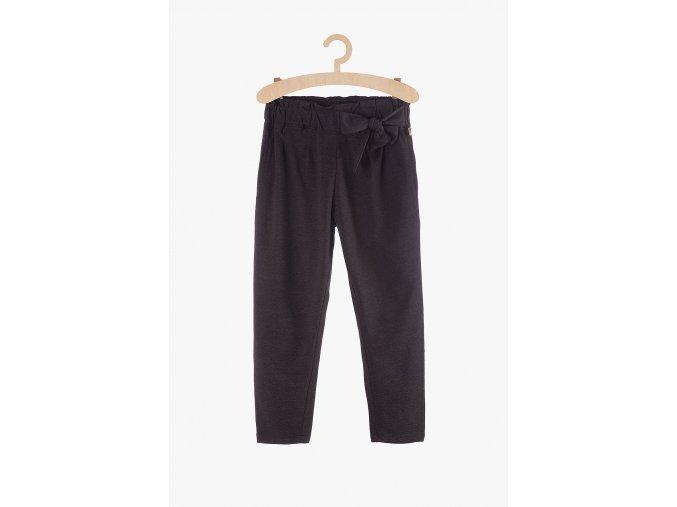 Módní úpletové kalhoty s vázačkou (Barva Šedá, Velikost 134)