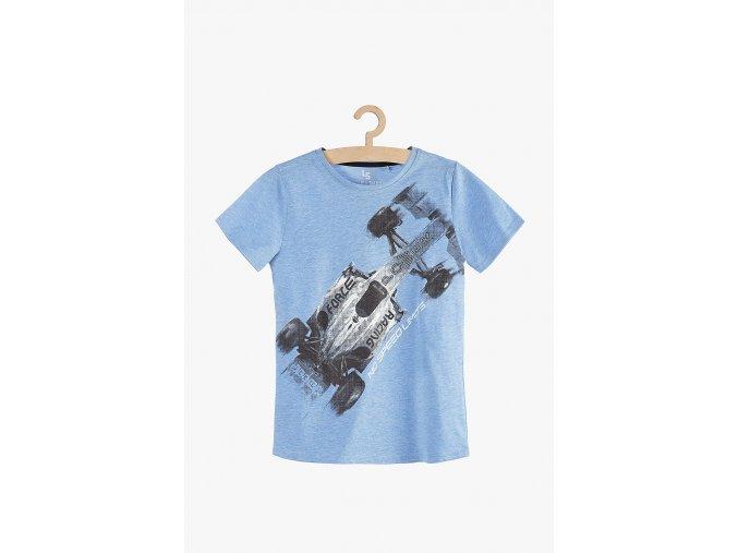 Tričko krátký rukáv s potiskem (Barva Modrá, Velikost 134)