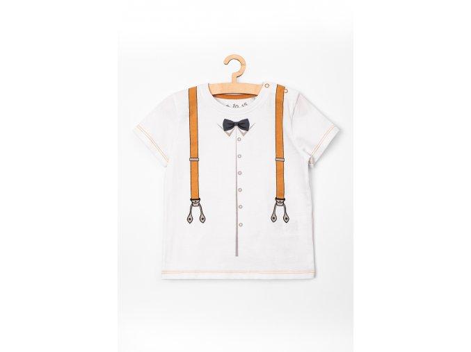 Tričko krátký rukáv s potiskem (Barva Bílá, Velikost 74)
