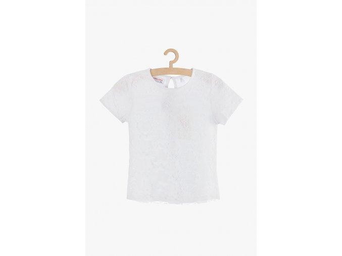 Tričko krátký rukáv s krajkovým vzorem (Barva Bílá, Velikost 134)