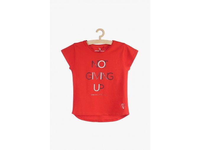 Tričko krátký rukáv s aplikací (Barva Červená, Velikost 134)