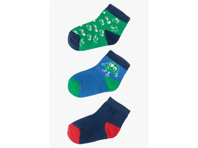 Ponožky - 3 páry v balení (Barva Mix barev, Velikost 21/23)