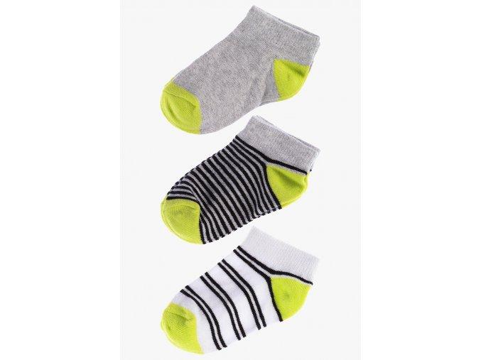 Krátké ponožky - 3 páry v balení (Barva Šedá, Velikost 21/23)