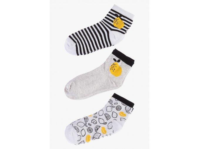 Ponožky - 3 páry v balení (Barva Mix barev, Velikost 30/32)
