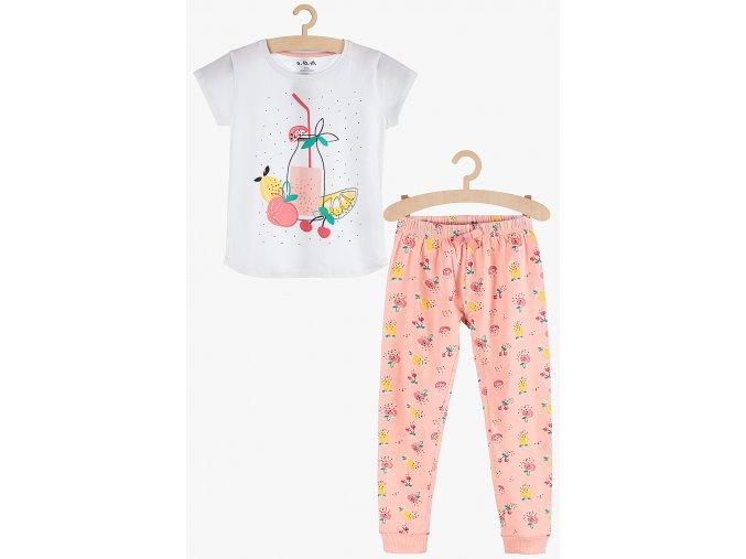 Dívčí pyžamo krátký rukáv a dlouhé nohavice (Barva Mix barev, Velikost 134/140)