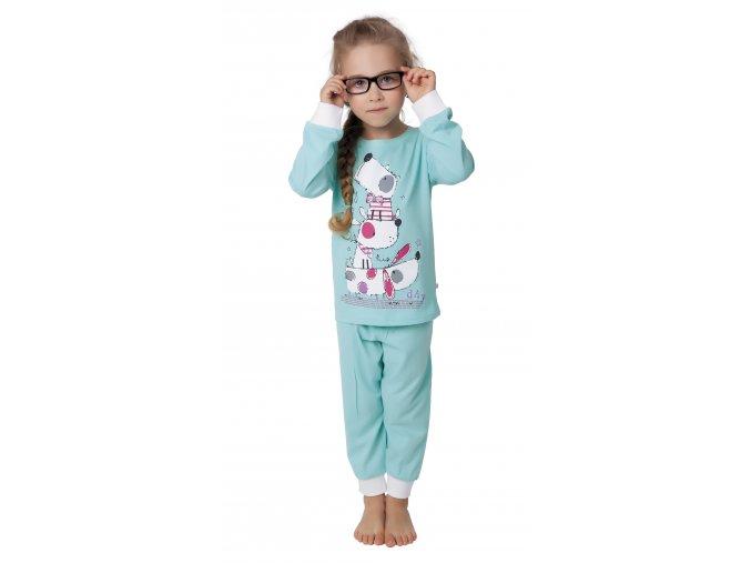 Dívčí pyžamo dlouhý rukáv (Barva Růžová, Velikost 98/104)