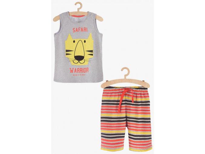 Chlapecké pyžamo bez rukávů a krátké nohavice (Barva Mix barev, Velikost 110/116)