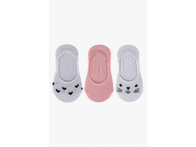 Extra krátké ponožky - 3 páry v balení (Barva Mix barev, Velikost 21/23)