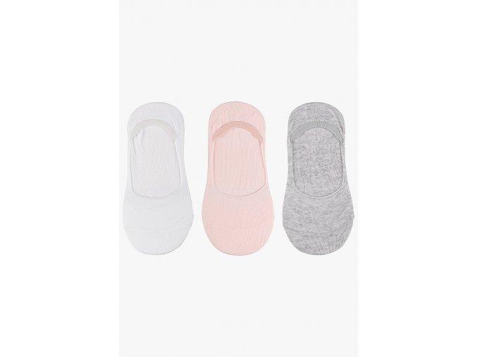 Extra krátké ponožky - 3 páry v balení (Barva Mix barev, Velikost 30/32)