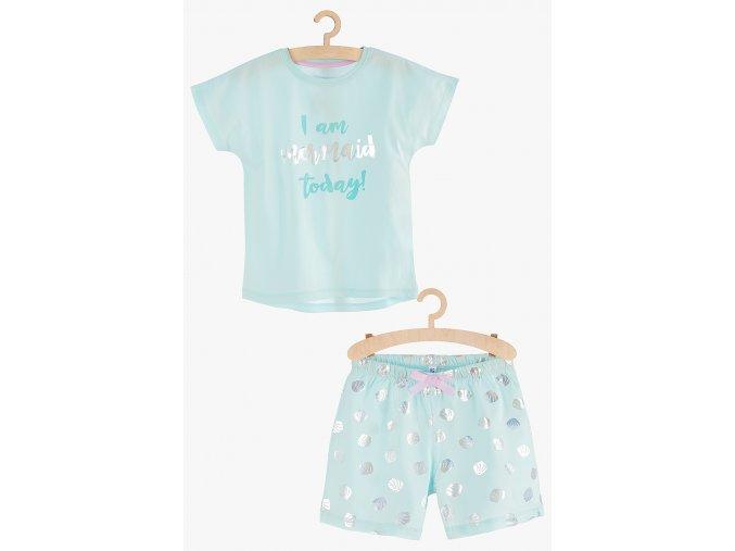 Dívčí pyžamo krátký rukáv (Barva Zelená, Velikost 134/140)