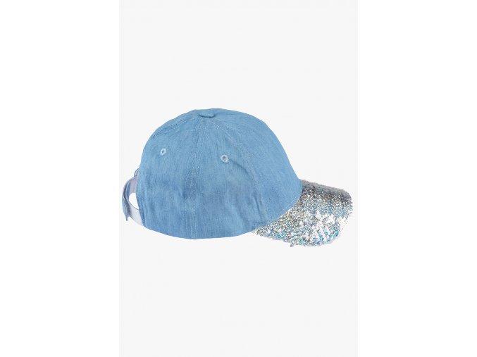 Kšiltovka s flitry (Barva Modrá, Velikost 56)