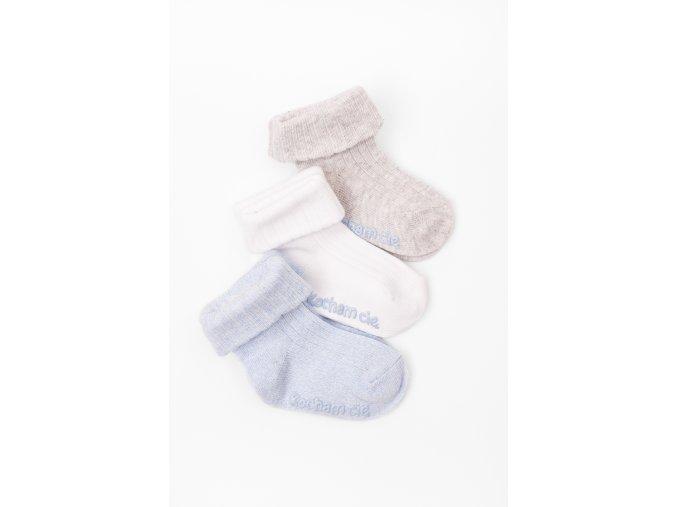 Ponožky - 3 páry v balení (Barva Mix barev, Velikost 12/14)