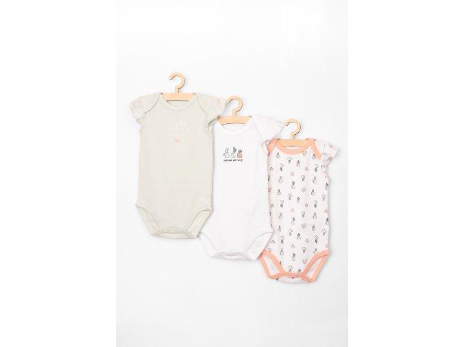 Body krátký rukáv s volánky - 3 kusy v balení (Barva Mix barev, Velikost 62)
