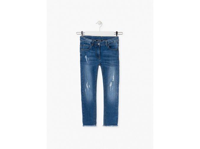 Dívčí módní džíny (Barva Modrá, Velikost 134/140)