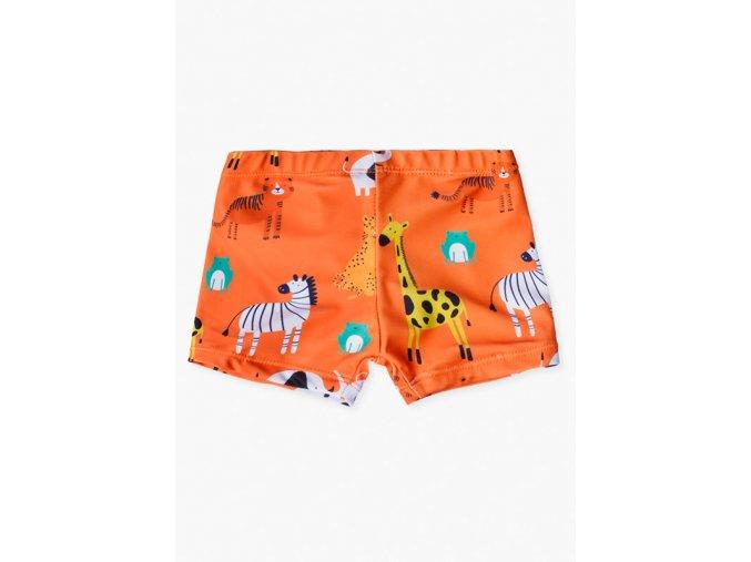 Kojenecké plavky s potiskem (Barva Oranžová, Velikost 86)