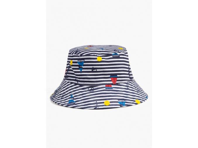 Klobouček proužkovaný (Barva Modrá, Velikost 92)