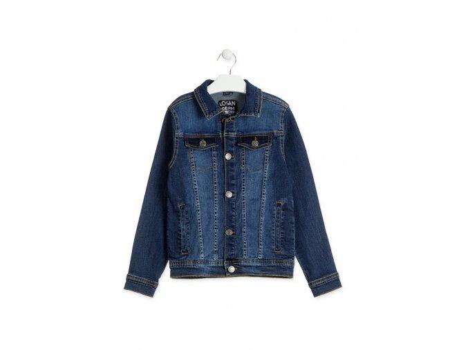 Chlapecká džínová bunda (Barva Modrá, Velikost 134/140)