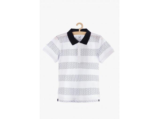 Tričko krátký rukáv s límečkem (Barva Bílá, Velikost 104)
