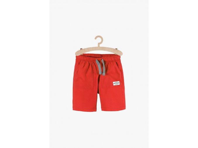 Chlapecké kraťasy s kapsami (Barva Červená, Velikost 104)