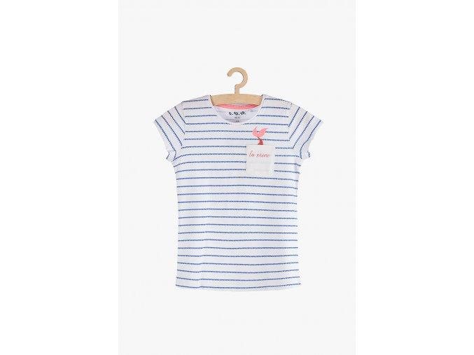 Tričko krátký rukáv s kapsičkou (Barva Bílá, Velikost 104)