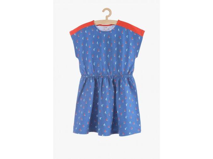 Letní šaty s potiskem (Barva Modrá, Velikost 104)