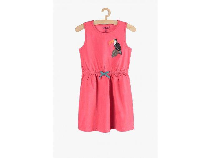 Letní šaty s potiskem (Barva Růžová, Velikost 104)