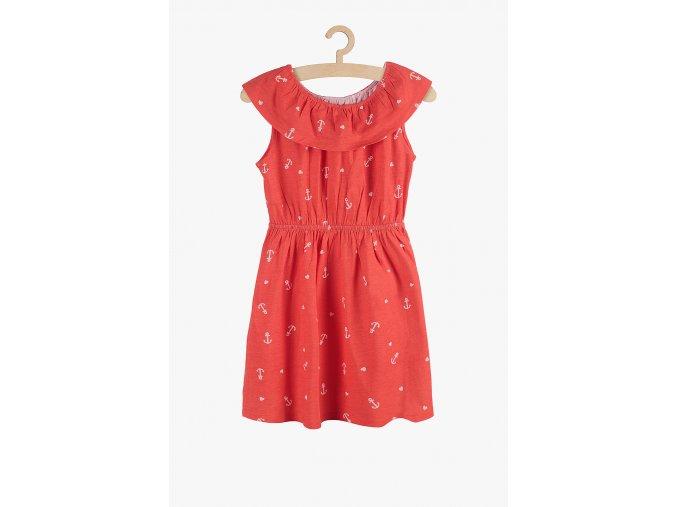 Letní šaty s potiskem (Barva Červená, Velikost 104)