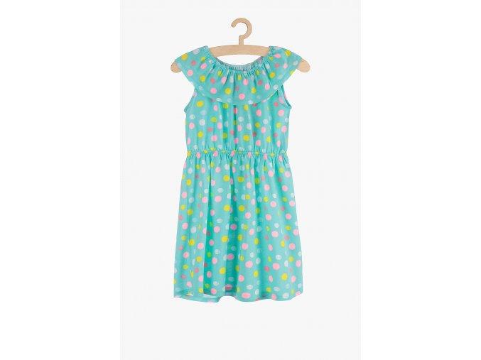 Letní šaty s potiskem (Barva Zelená, Velikost 104)