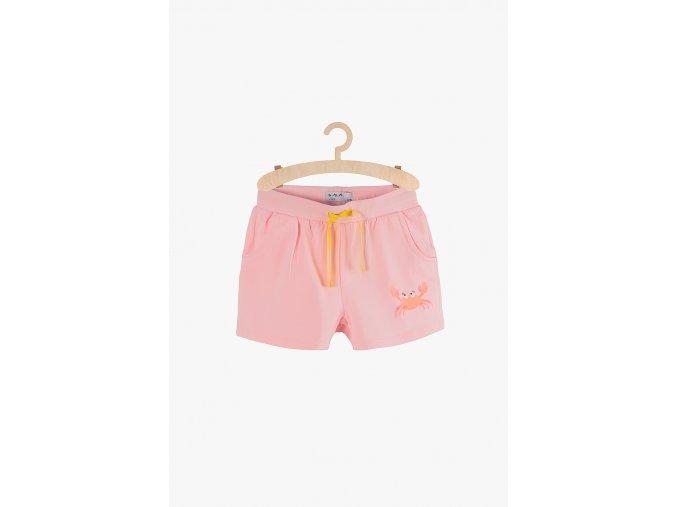 Dívčí šortky s potiskem (Barva Růžová, Velikost 104)