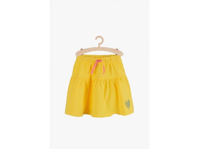 Bavlněná sukně jednobarevná (Barva Žlutá, Velikost 110/116)