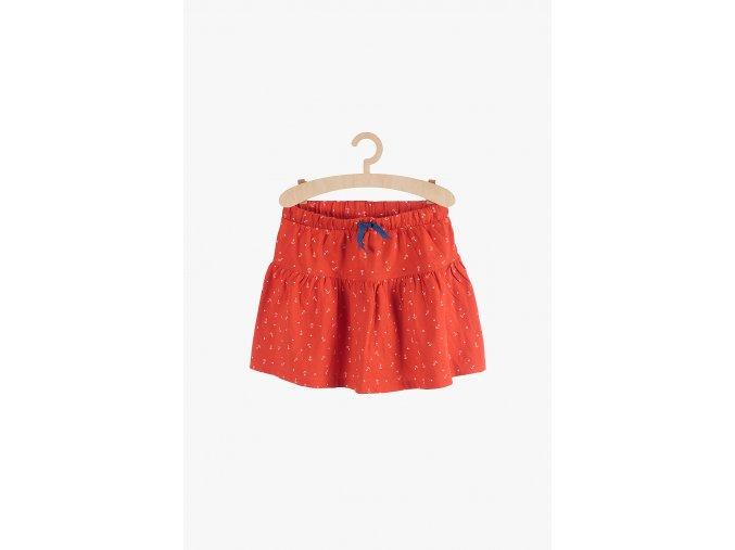 Bavlněná sukně s drobným potiskem (Barva Červená, Velikost 110/116)