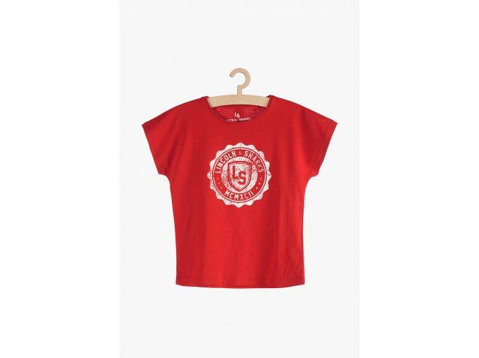 Tričko krátký rukáv s potiskem (Barva Červená, Velikost 134)