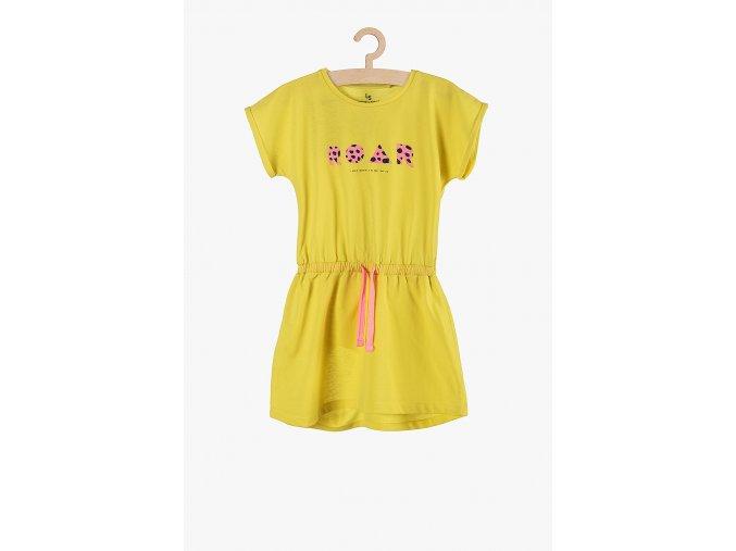 Letní šaty s potiskem (Barva Žlutá, Velikost 134)