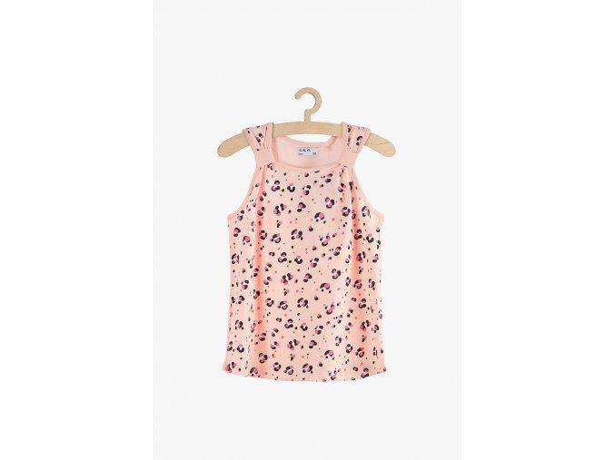 Tričko bez rukávů s potiskem (Barva Růžová, Velikost 104)