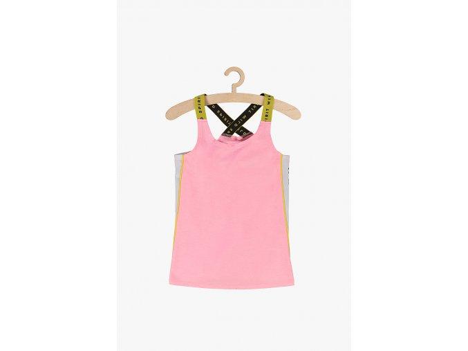 Sportovní tričko bez rukávů (Barva Růžová, Velikost 134)