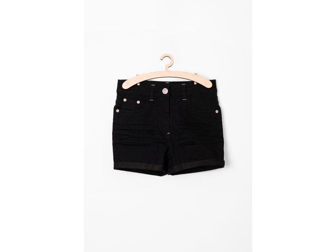 Dívčí džínové šortky (Barva Černá, Velikost 134)