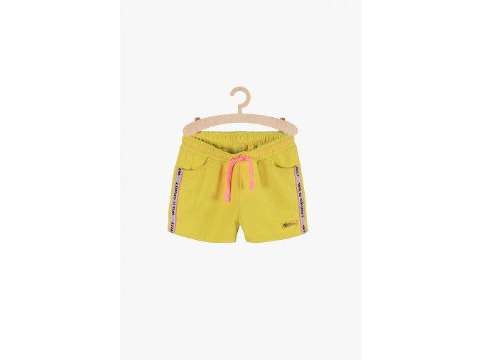 Dívčí sportovní šortky (Barva Žlutá, Velikost 134)