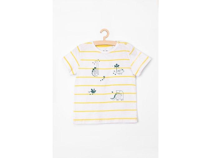 Tričko krátký rukáv s potiskem (Barva Bílá, Velikost 68)