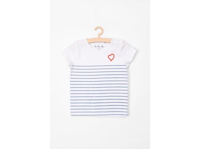 Tričko krátký rukáv s potiskem (Barva Bílá, Velikost 62)