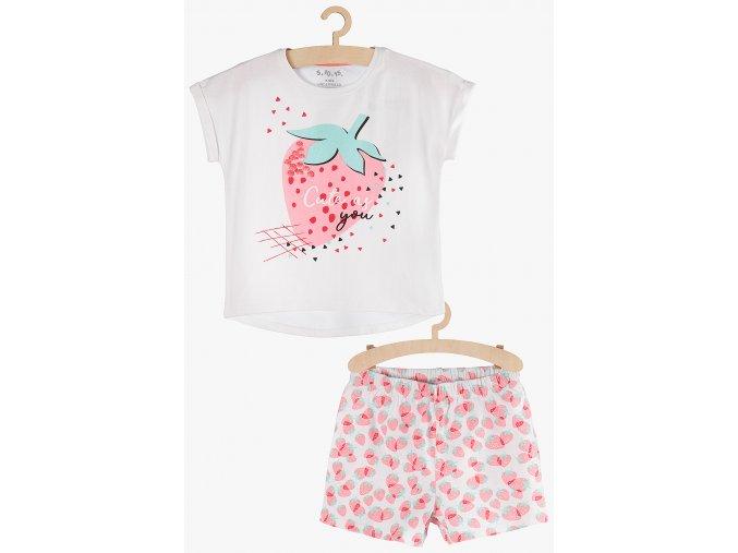 Dívčí pyžamo krátký rukáv (Barva Mix barev, Velikost 110/116)