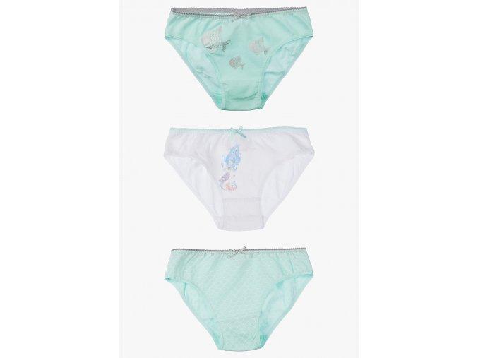 Kalhotky s potiskem - 3 kusy v balení (Barva Zelená, Velikost 110/116)